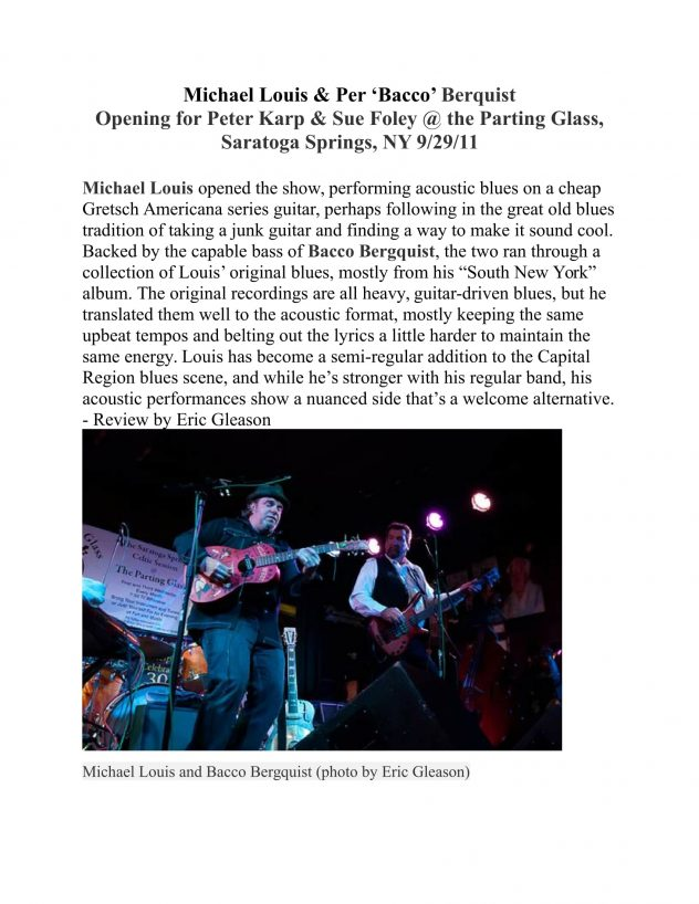 michael-louis-per-bacco-berquist-opening-for-karp-foley-saratoga-springs-ny-9-29-11-review